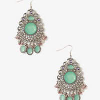 Bejeweled Drop Earrings | FOREVER 21 - 1025379121