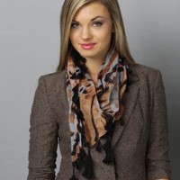 Calico Kitten Animal Print Scarf