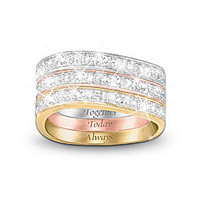 Three Band Diamond Ring: Timeless Love