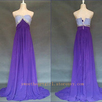 Multi Colours Elegant Sheath Floor-length Sweetheart Prom Dress/Graduation Dress