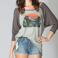 RVCA Sunrise Womens Baseball Tee