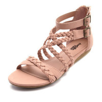 Charlotte Russe - Braided Multi-Strap Sandal