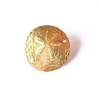 Sand Dollar Barrette - Gold Seashell Barrette - Beach Bridal Hair Accessories Beach Wedding Hair Accessories Cute Adorable Whimsical Dreamy
