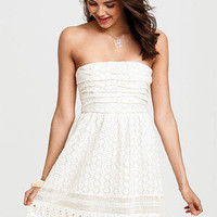 dELiAs > Crochet Ruched Strapless Dress > dresses > new arrivals