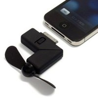 Black Newest Cool Dock Fan Gadgets Cooler for iPhone 4: Cell Phones &amp; Accessories