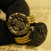 Victorian Button Rings by FernStreetDesigns on Etsy