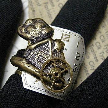 Steampunk Ring Home Sweet Home by FernStreetDesigns on Etsy