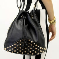 Black Studded Purse | VidaKush