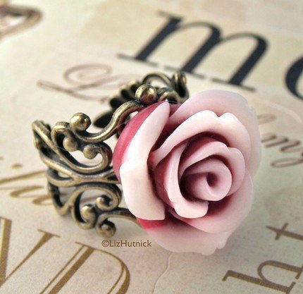 Peppermint Rose Ring