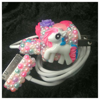 Cute Pony Kawaii Girly Bling Pearl iPhone iPod by HelloKatieCuties