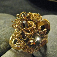 Cocktail Ring for Fall by RubyRow on Etsy