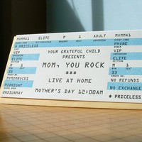 $4.50 mom rock mother's day ticket card by afavoritedesign on Etsy