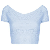Lace Bardot Crop Top