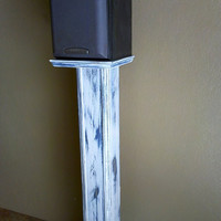 Rustic Chic Surround Sound Speaker Stands