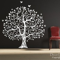 Gorgeous Leaved Bird and Butterfly Tree Vinyl Wall by DecorDesigns