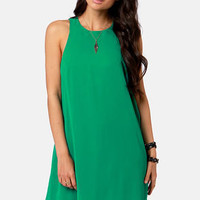 Chiff-On the Run Green Dress