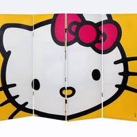 Hello Kitty 4 Foot Tall Room Divider: Yellow
