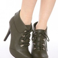 Lace-Up Hiking Boot - Army Green | NASTY GAL | Jeffrey Campbell shoes, Evil Twin, MinkPink, BB Dakota, vintage dresses + more!