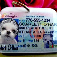 Dog Tag Georgia Driver License Photo ID Tag