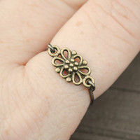Wire Wrapped Ring Bronze Filigree