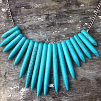 Howlite Tribal Necklace by theChameli on Etsy