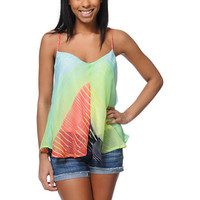Billabong Breaker Green Tank Top
