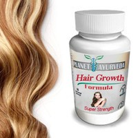 Grow Longer, Thicker Hair Products - by Planet Ayurveda - 100% Safe Herbal Hair Growth Pills for Fast Hair Growth Super Strength formula for longer hair thicker fuller hair. Naturally Stronger Growing Hair. 60 hair pills tablets. Grow Hair Fast!