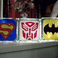 Superman Transformer Batman Night Light by TheCraftyGeek86 on Etsy