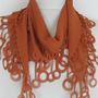 Chiffon Fabric Fringed  Scarf by asuhan on Etsy