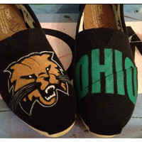 Ohio University Bobcats Toms Shoes by CustomTOMSbyJC on Etsy