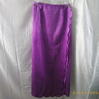 USF Collection purple rayon wrap skirt