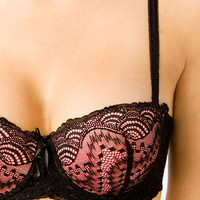 Convertible Lace Push-Up Bra