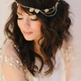 Alicia Bridal Headband Pyrite Stones Beads Wrapped by LoBoheme