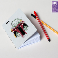 "Handmade Star Wars notebook ""Boba Fett"" Steel Grey"
