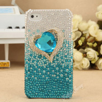 Heart Of Ocean Handmade Rhinestone Case For iPhone 4/4S