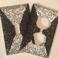 Coarse Glitter Silver/Black Outlet/Light by MelaniesGlittermania