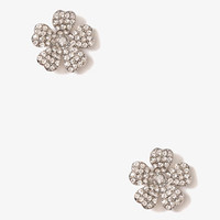 Rhinestoned Wildflower Studs