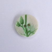 5 Small Round Leaf Buttons - embroidery - crafts - scrapbooking