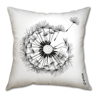 Designer pillow cushion with an Oduvan (dandelion) print (insert NOT included)