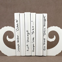 Bookends - Buffalo horns - laser cut for precision sturdy metal bookends