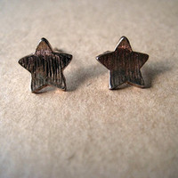Star Earrings Studs by Bitsofbling on Etsy