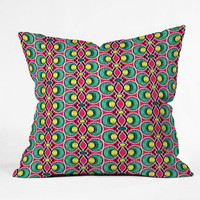 DENY Designs Home Accessories | Raven Jumpo Ikat Lattice Magenta Throw Pillow