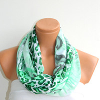 Fashion chiffon Fabric scarf Infinity Scarf,Loop Scarf,Circle Scarf, Leopard Pattern chiffon fabric Scarf,Nomad Cowl. Leopard Pattern,
