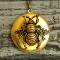 Queen Bee Locket Necklace