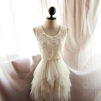 Nutcracker Queen Romantic Nude French Cream Pale Autumn Angel Halloween Ballerina Dream Whimsical Tulle Dreamy Lace Sexy Party Dress