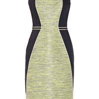 Lela Rose | Color-block tweed and linen sheath dress | NET-A-PORTER.COM
