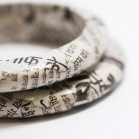Foreign Press Recycled Newspaper Eco Bangle by SquishySushi