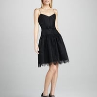 Lace-Overlay Cocktail Dress