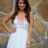 Take My Breath Away Dress: White | Hope's
