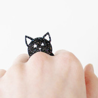 Vinca Glitter Rainbow Kitty Ring | Tigertree Glitter Rainbow Kitty Ring